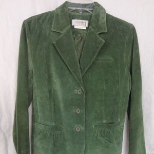 Bloomingdale's Women's Suede Button Up Jacket